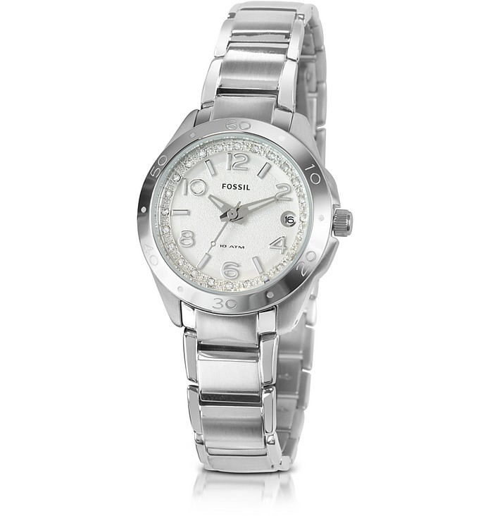 Slim Crystal Bracelet Watch  - Fossil