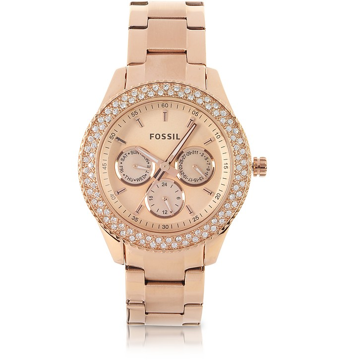Stella Multifunction Rose Stainless Steel Watch - Fossil