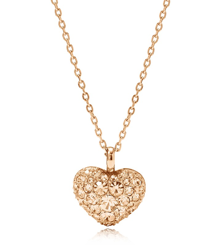 Glitz Heart Pendant Women's Necklace - Fossil