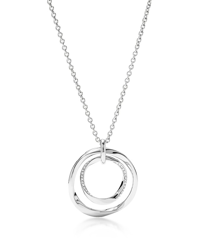 Long Twist Pendant Women's Necklace - Fossil