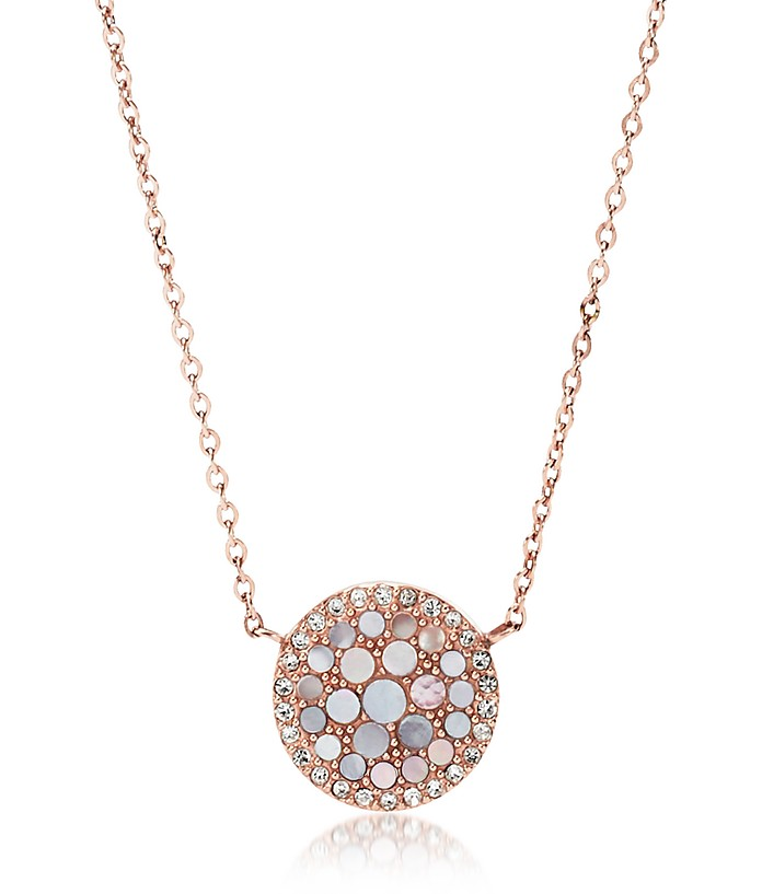 Pearl Disc Pendant Women's Necklace - Fossil