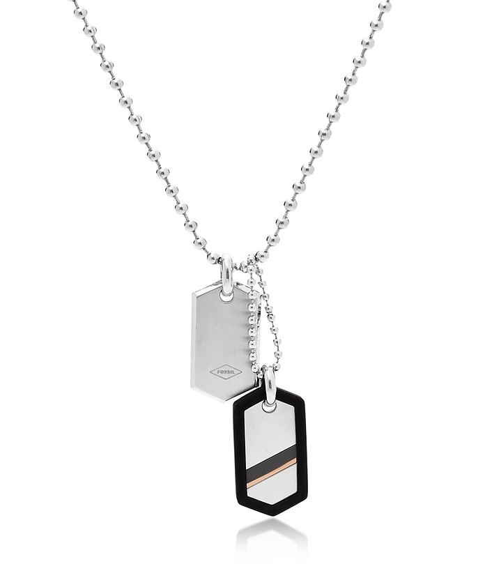 Dog Tag Steel Necklace - Fossil