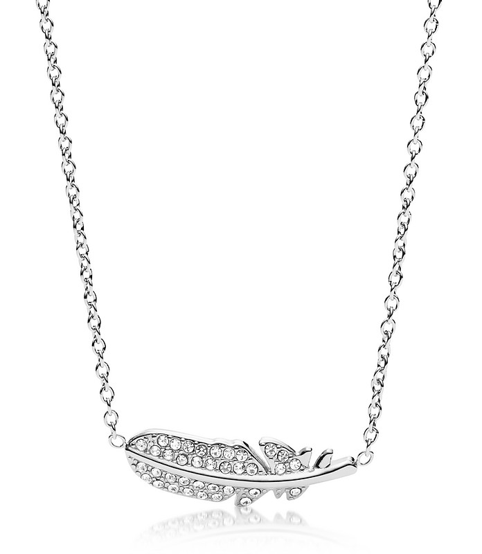 Feather Glitz Steel Necklace - Fossil