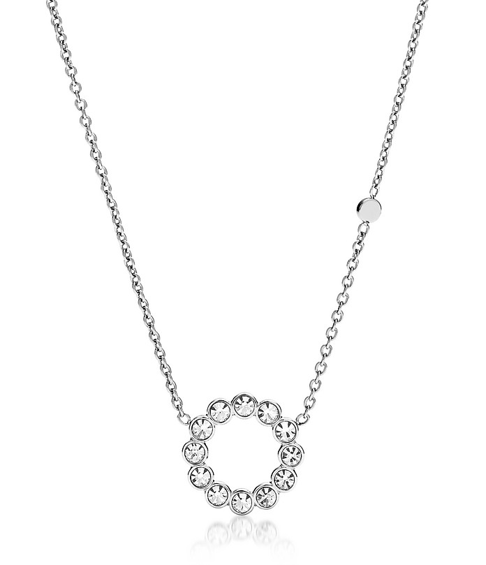 Vintage Glitz Bezel Women's Necklace - Fossil