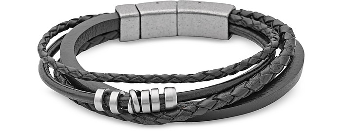 Vintage Casual Braided Men's Bracelet - Fossil