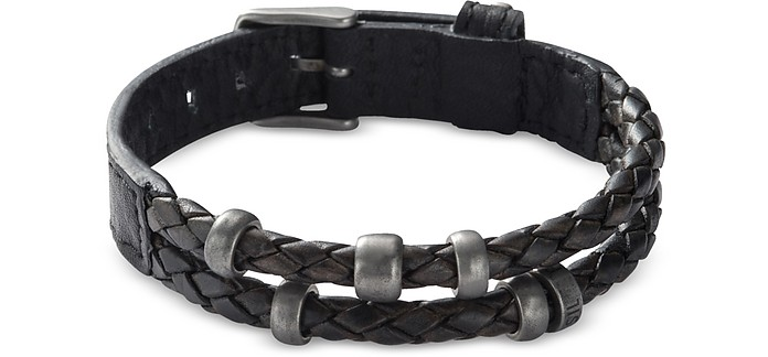 Black Retro Pilot Men's Bracelet - Fossil