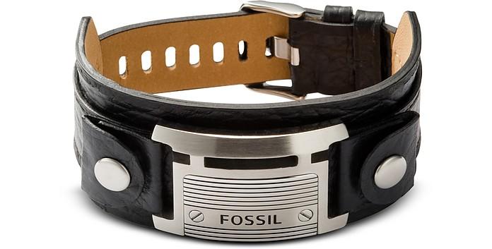 Wide Vintage Casual Men's Bracelet - Fossil