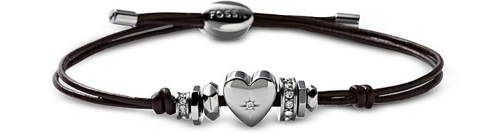 Vintage Heart Motifs Women's Bracelet - Fossil