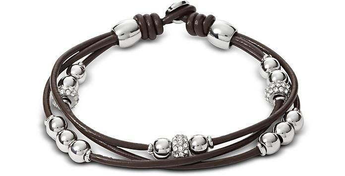 Chocolate Rondel Wrist Wrap Women's Bracelet - Fossil