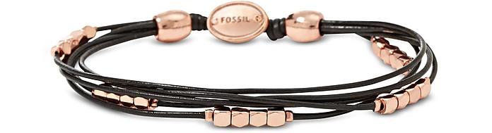 Rose Gold Dainty Nugget Wrap Women's Bracelet - Fossil