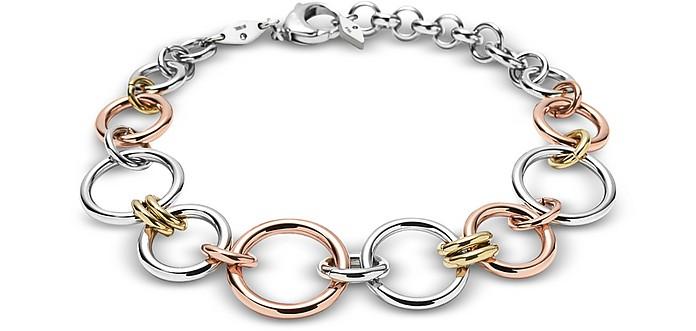 Tri-Tone Circle Women's Bracelet - Fossil