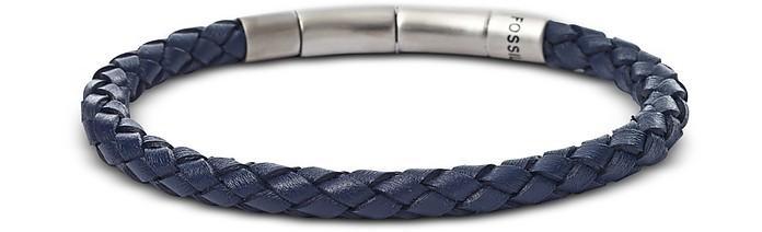 Blue Braided Men's Bracelet - Fossil
