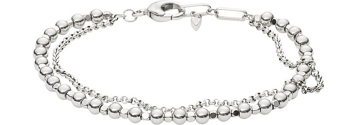 Women's Silver-Tone Multi-Beaded Bracelet - Fossil