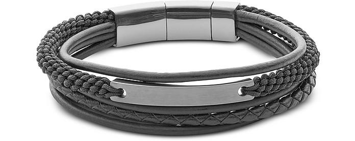 Vintage Casual Steel Multi-Strand Men's Bracelet - Fossil