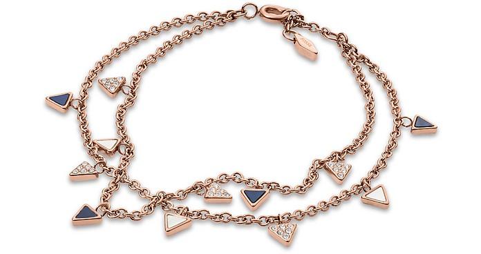 Women's Triangle Double Bracelet - Fossil