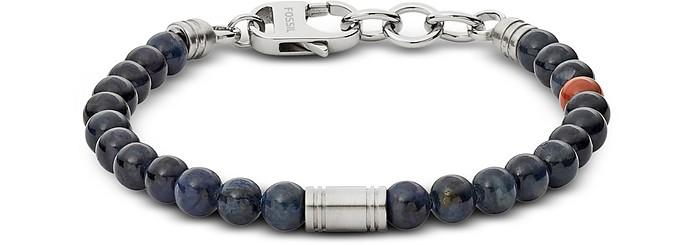 Vintage Casual Blue Beaded Men's Bracelet - Fossil
