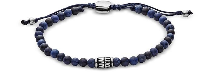 Men's Blue Semi-Precious Bracelet - Fossil