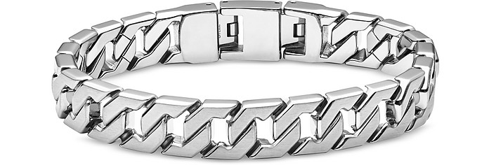 Stainless Steel Link Men's Bracelet - Fossil