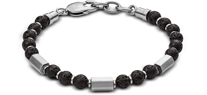 Lava Stone Men's Bracelet - Fossil