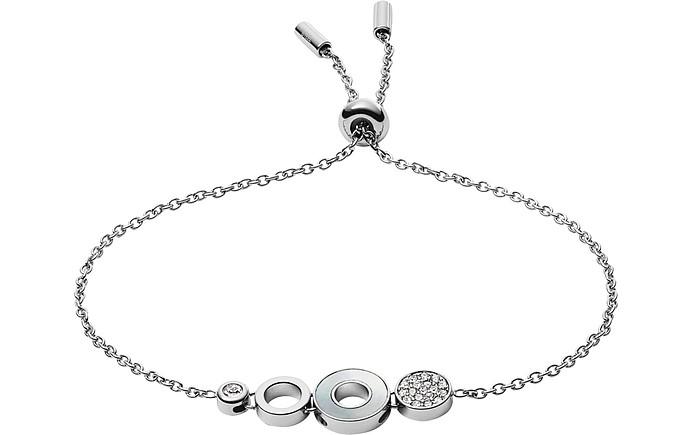 Open Disc Stainless Steel Bracelet - Fossil