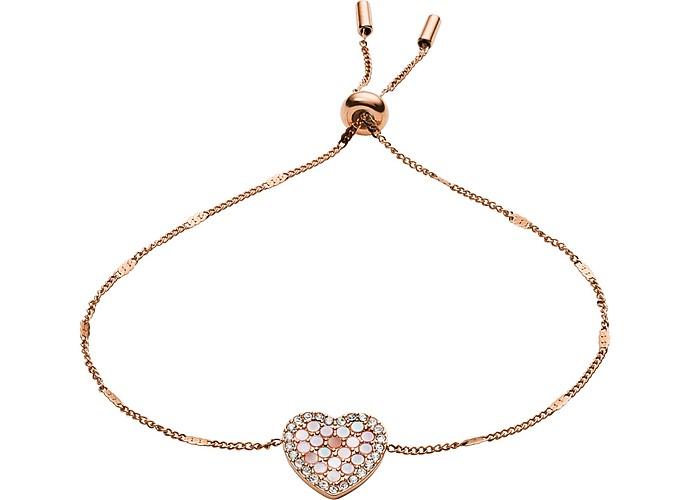 Mosaic Heart Glitz Bracelet - Fossil