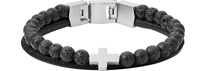 Duo Lava Men's Bracelet - Fossil