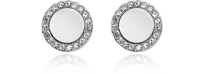 Glitz Stainless Steel Women's Stud Earrings - Fossil