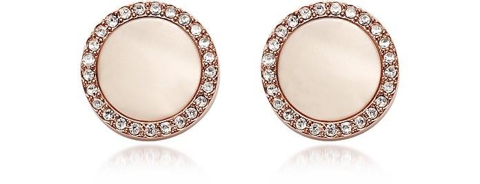 Shimmer Horn Studs Women's Earrings - Fossil
