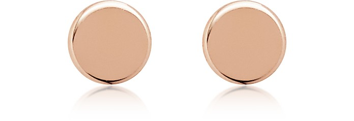 Rose Gold Tone Round Stud Earrings - Fossil
