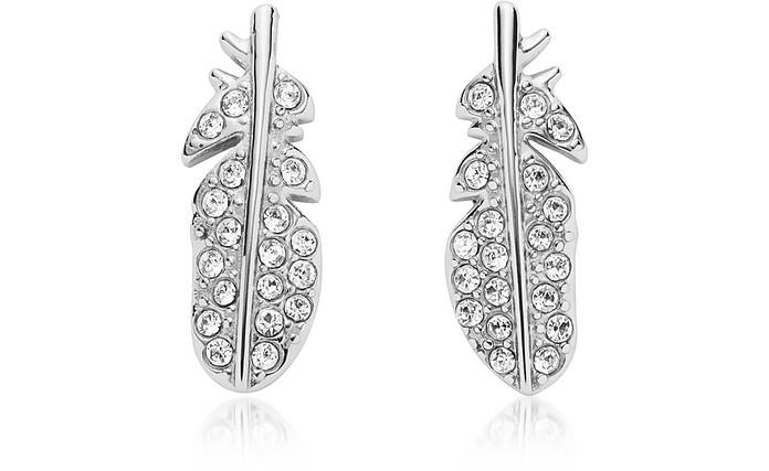 Feather Glitz Steel Earrings - Fossil