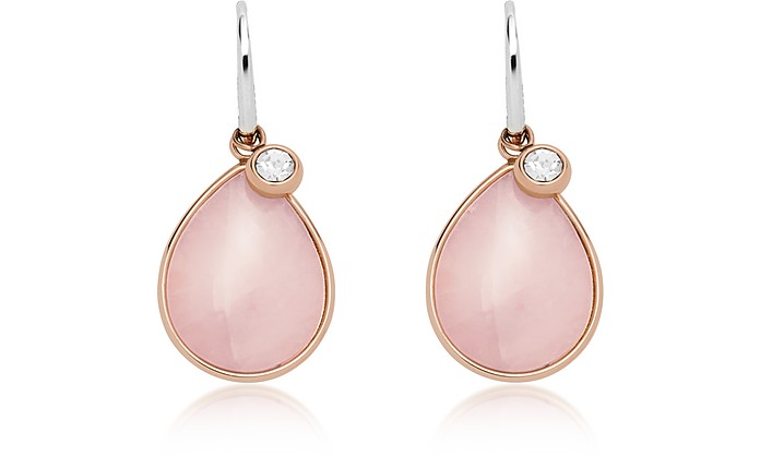 Teardrop Pink Semi-Precious Earrings - Fossil