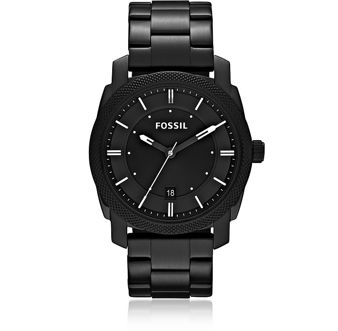 Machine Black Stainless Steel Men's Watch - Fossil