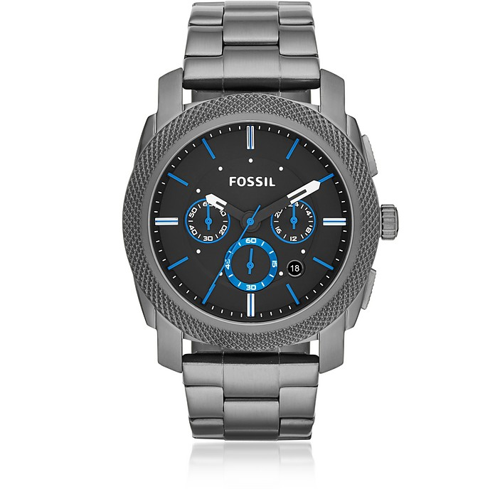 Machine Chronograph Smoke Stainless Steel Men's Watch - Fossil
