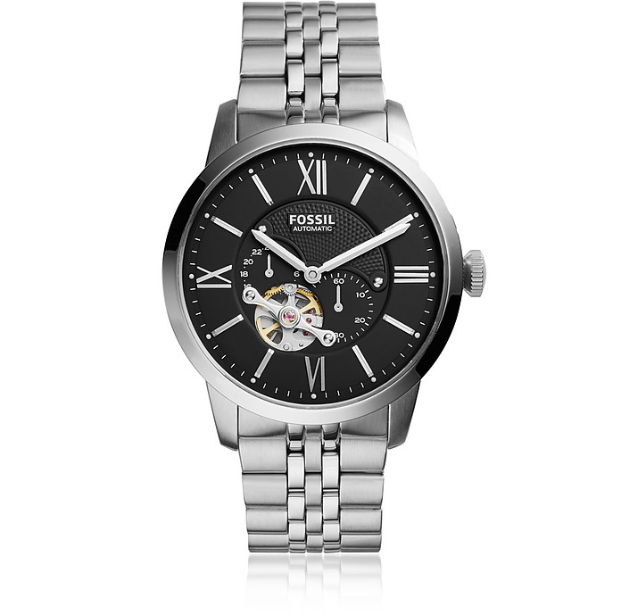 Townsman Automatic Stainless Steel Watch - Fossil