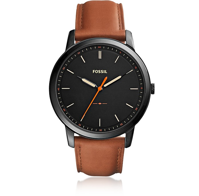 The Minimalist Slim Three-Hand Light Brown Leather Men's Watch - Fossil