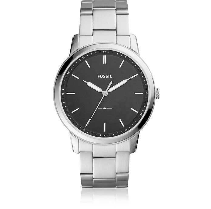 The Minimalist Slim Three-Hand Stainless Steel Men's Watch - Fossil