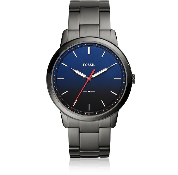 The Minimalist Slim Three-Hand Smoke Stainless Steel Men's Watch - Fossil