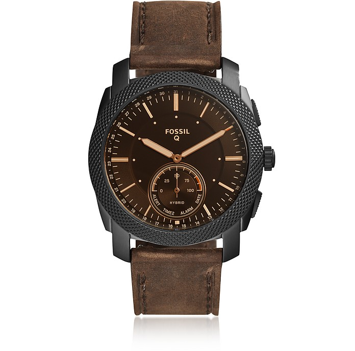 Hybrid Smartwatch - Q Machine Dark Brown Leather - Fossil