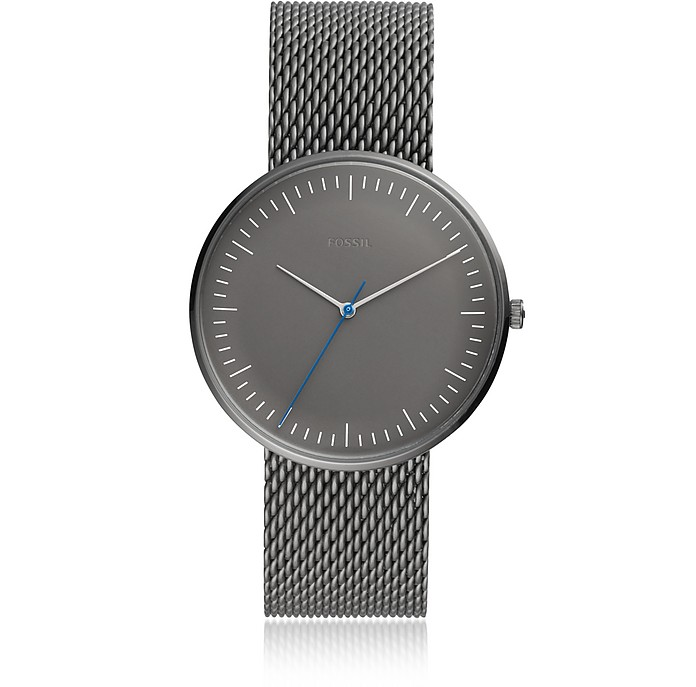 The Essentialist Three Hand Gray Stainless Steel Men's Watch - Fossil