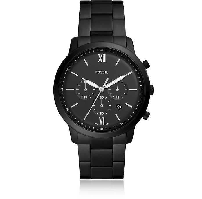 Neutra Chronograph Black Stainless Steel Watch - Fossil