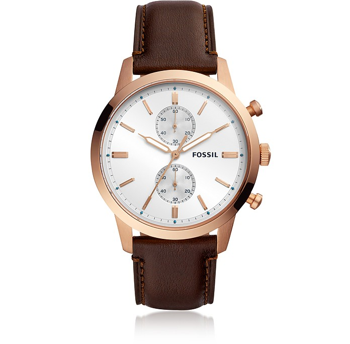 Townsman Chronograph Java Leather Watch - Fossil