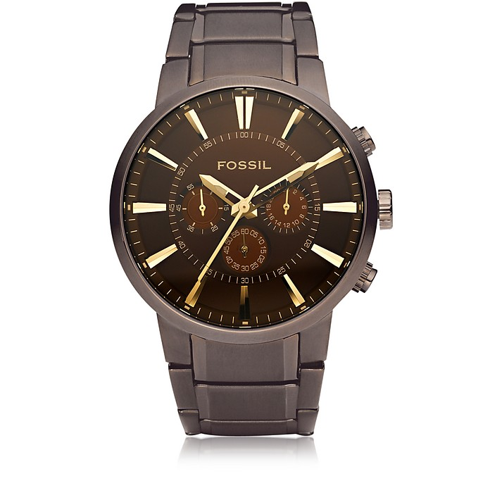 Fossil  Others Brown Stainless Steel Men's Chronograph Watch