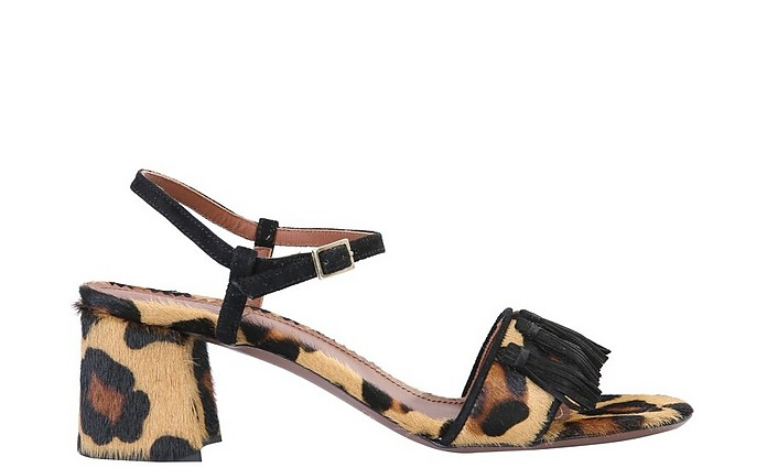 Sandals With Animal Print - L'Autre Chose