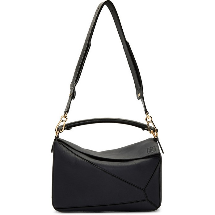 Navy and Black Puzzle Bag - Loewe