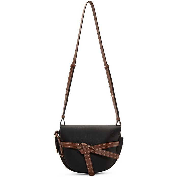 Black and Brown Small Gate Bag - Loewe