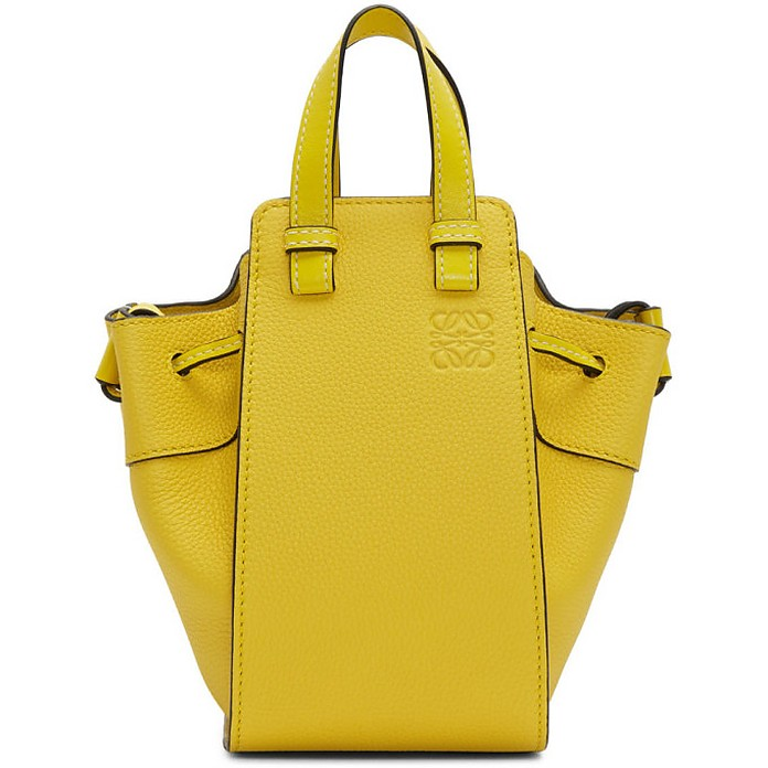 Yellow Mini Hammock Drawstring Bag - Loewe
