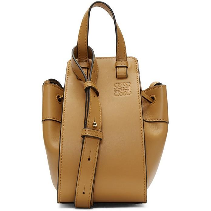 Brown Mini Hammock Drawstring Bag - Loewe