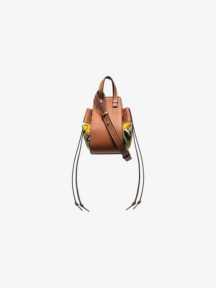 Multicoloured hammock embroidered leather mini bag - Loewe