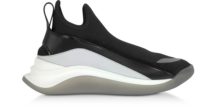 High-Performance Futuristic Sneakers Noires - SportMax