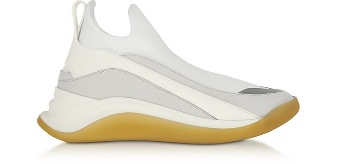 White High-Performance Futuristic Sneakers - SportMax